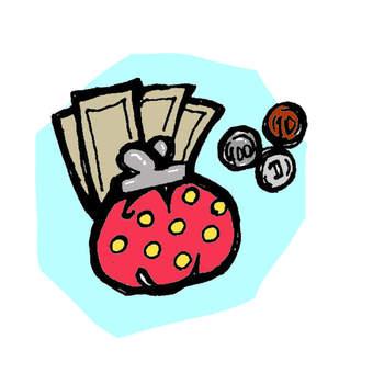 Wallet illustration color version