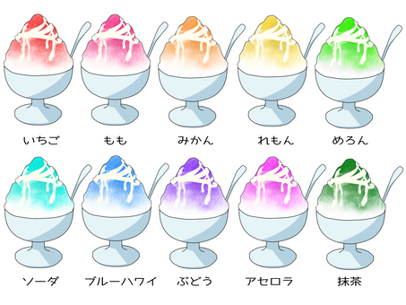 Shaved ice with condensed milk