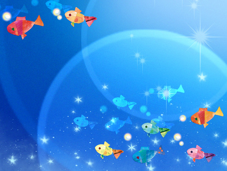Rainbow colored fish sea