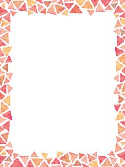 水彩フレーム枠飾り装飾手描き背景ピンク春