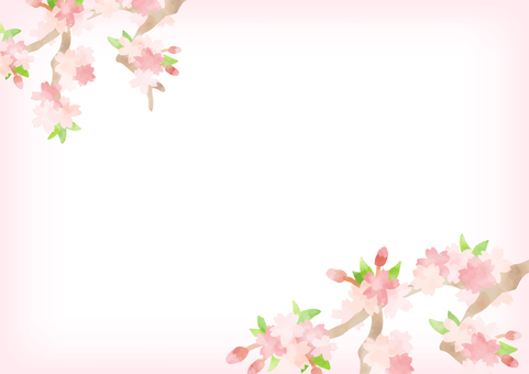 Hand-painted cherry background 2