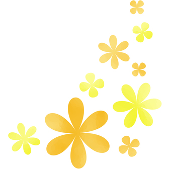 오렌지 꽃 삽화