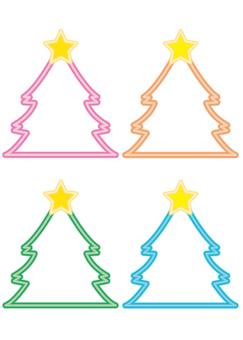 Christmas neon tree (background transparent)