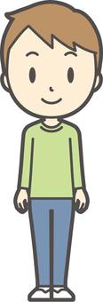Boys green long sleeve-271-whole body
