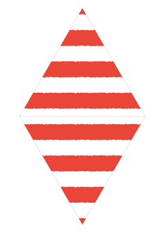 Garland 【Marine】 Border red