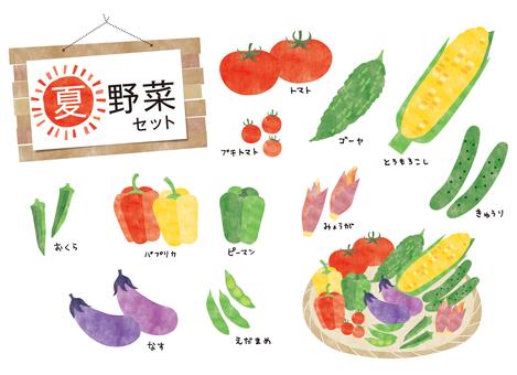 Summer vegetable set