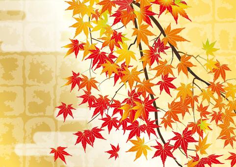 Gilt gilt _ autumn leaves _ horizontal size