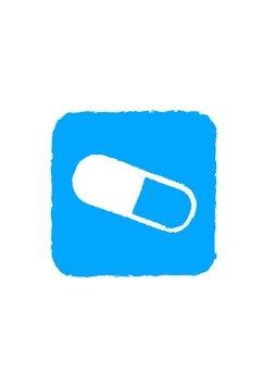 Blue pict capsule