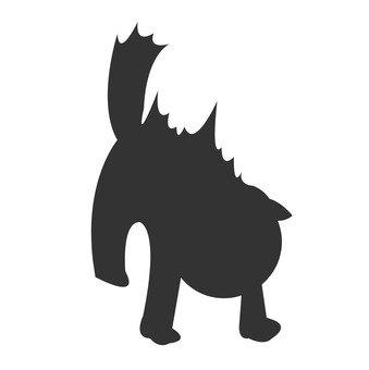 Intimidating cat silhouette