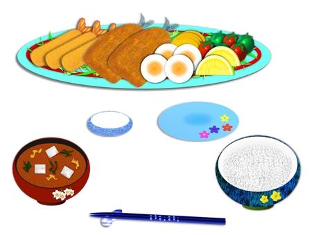 Shrimp afternoon set meal E0410