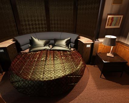 밤의 침실