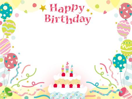생일 카드 _ B01_ 케이크