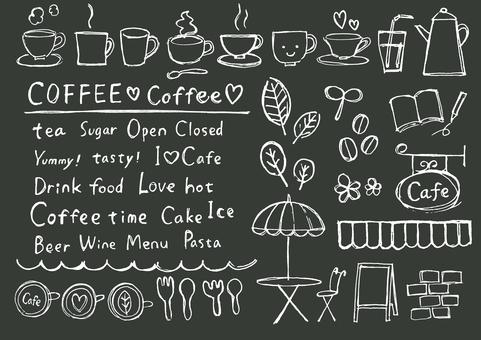 카페 칠판 메뉴 프레임 프레임