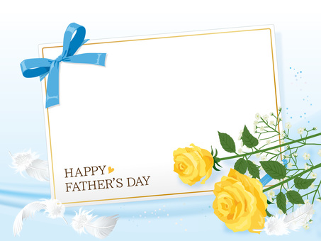 Father's Day Rose and Scallop's Card Background 05