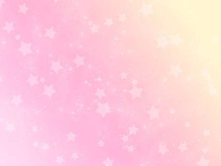Glittering pink star background
