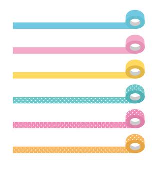 Color tape (pastel, dot)