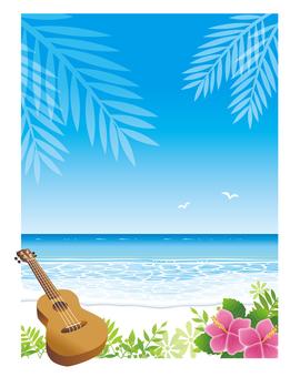 해변의 배경 세로