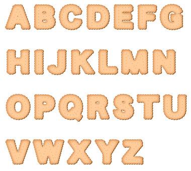 Biscuit alphabet capital letters