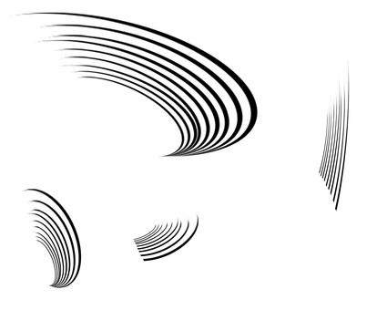 효과 곡선 포장
