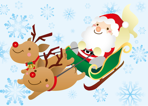 NEW Santa Claus on Sled There is a background