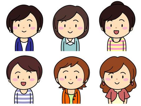 6 female characters