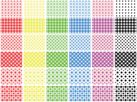 36 kinds of colorful dot pattern