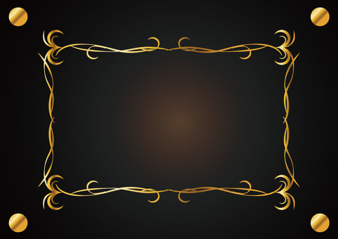 Decorative ruled frame 012_ gold