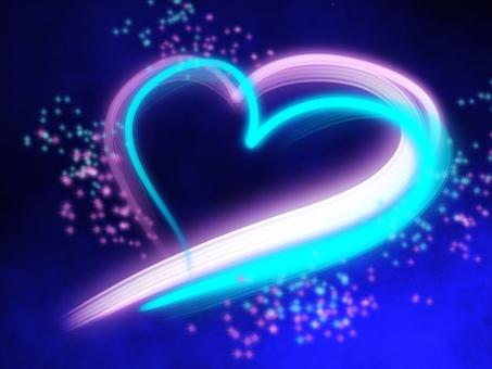 Heart night light up
