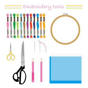 Embroidery tool set