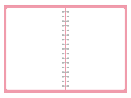 Pink ring note plain