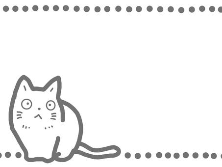 Cat line drawing animal round pet
