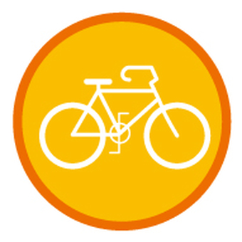 Bicycle _ icon - orange