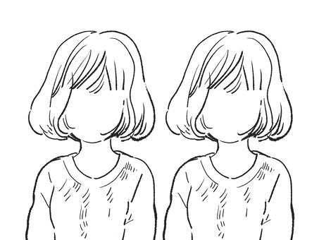 얼굴없는 여성 (선화)