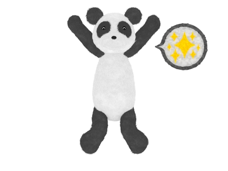 Panda Plush rejoices