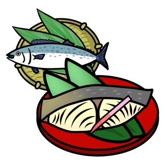 Salt-grilled salmon ②