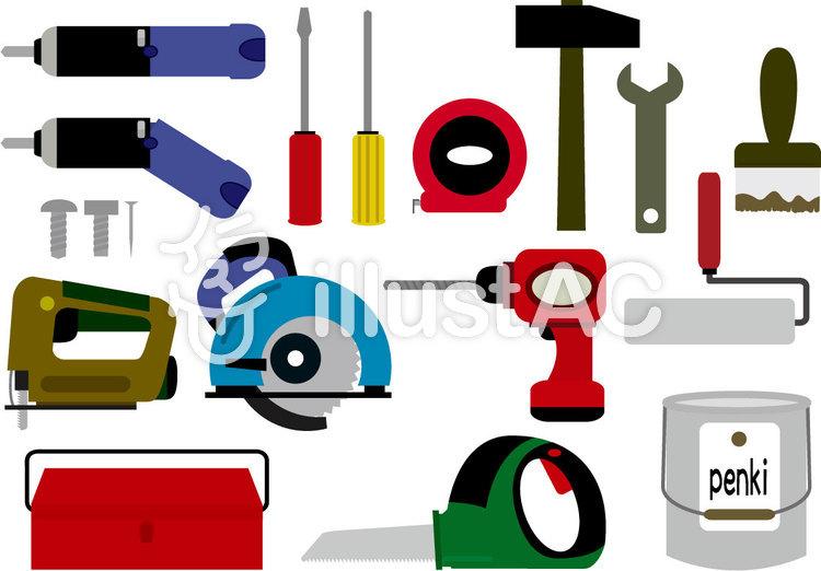 道具・工具(DYI)のイラスト