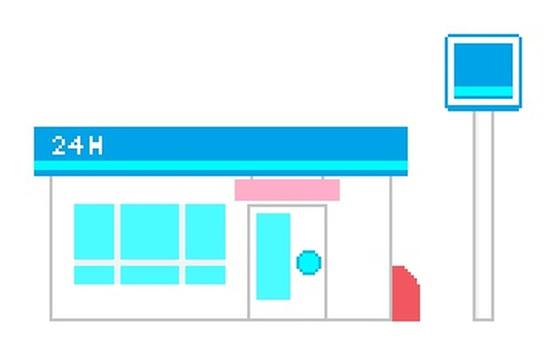 Convenience store building