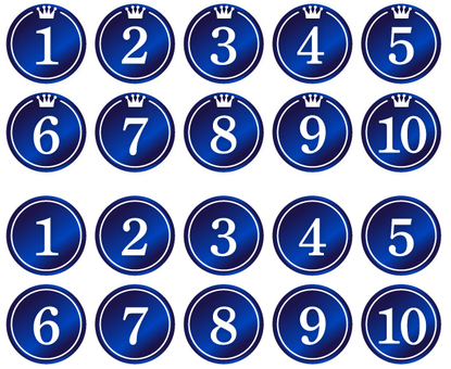 Ranking · Numbers (blue)
