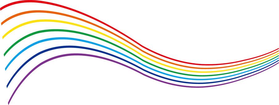 7色の曲線(虹色)7色