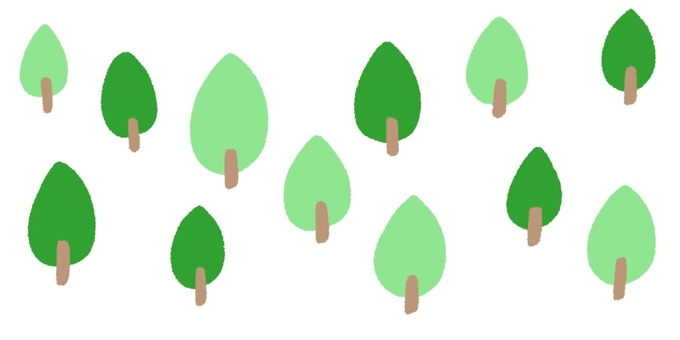 Forest trees, cute hand drawn