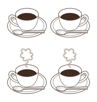 커피 컵 4 상태 _ 스푼 & 김 첨부