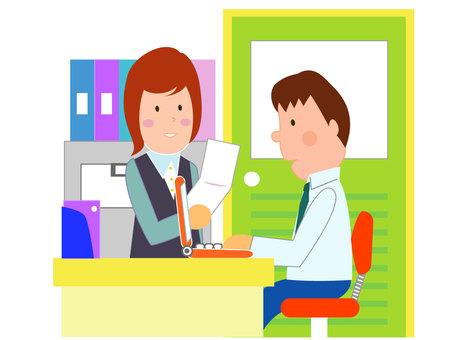 Office women and men