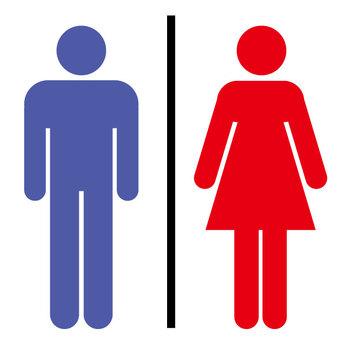 Toilet Mark Men and Women Pictogram