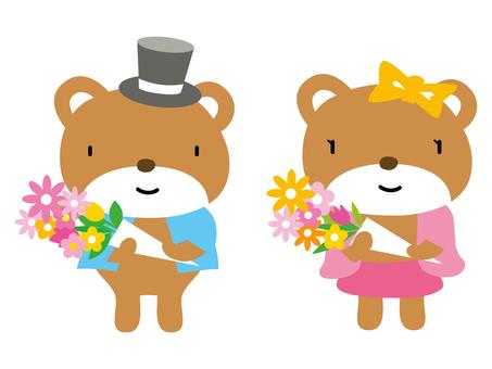 Bear Bouquet Couple