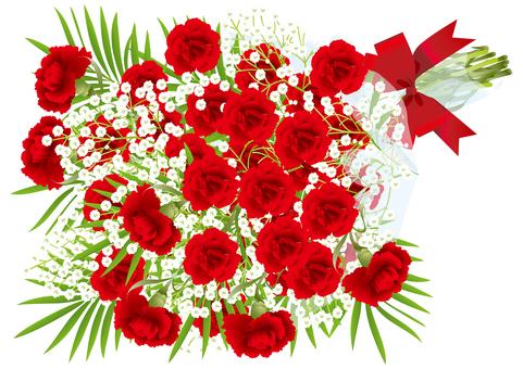 카네이션 먹풀 꽃다발 4