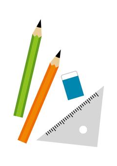 Stationery Pencil Eraser Ruler