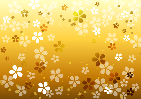 Gold cherry background