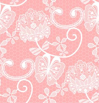 레이스 패턴 _ 핑크