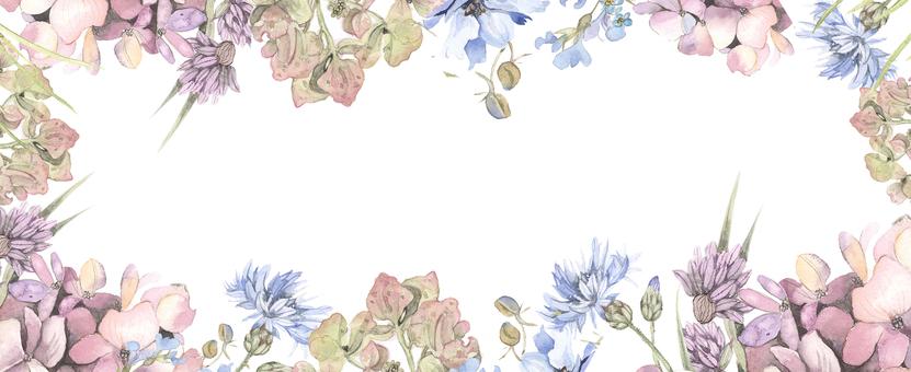 Hydrangea flower frame - frame