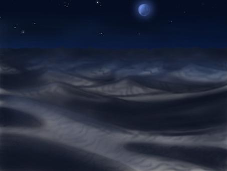 Desert night background illustration